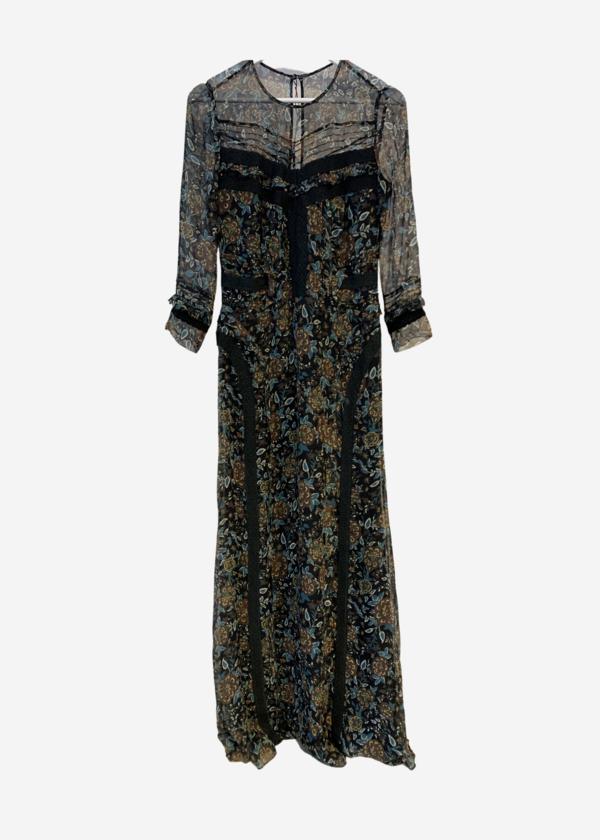 [Pre-loved] Veronica Beard Keene Maxi Dress - Floral