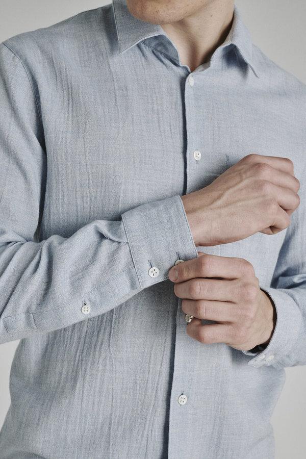Delikatessen Feel Good Soft Organic Cotton Shirt - Blue