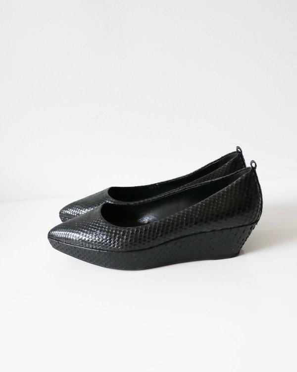 Jil Sander Snakeskin Wedges, Size 37.5
