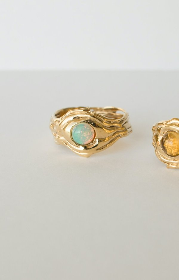Merewif River Ring - Opal