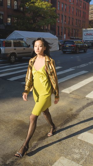 KES Mini Triangle Slip Dress - Cloud