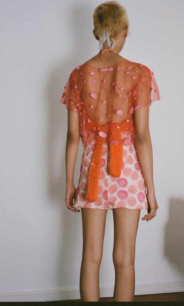 Sydney Pimbley Dolly Mix Knit Crop - Orange