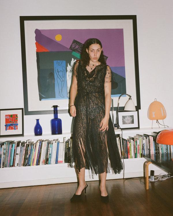 Sydney Pimbley Vintage Leather Dot Top - Black