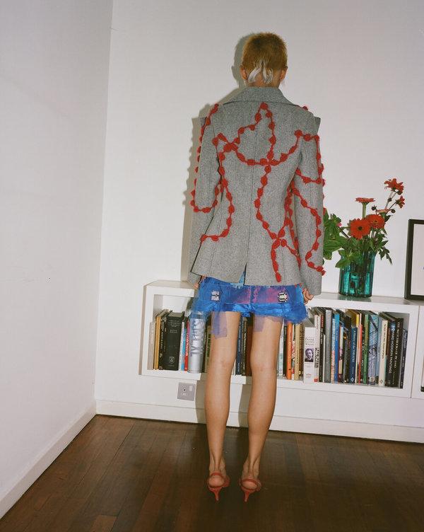 Sydney Pimbley Portcullis Skirt - Red