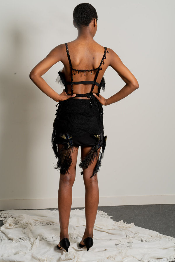 Sydney Pimbley The Lola Bustier - Black
