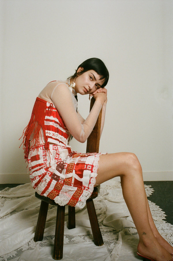 Sydney Pimbley Apple of my Eye Skirt - Red/White