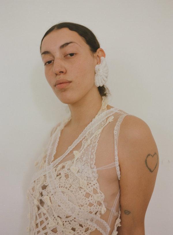 Crochet Dot Crop Top