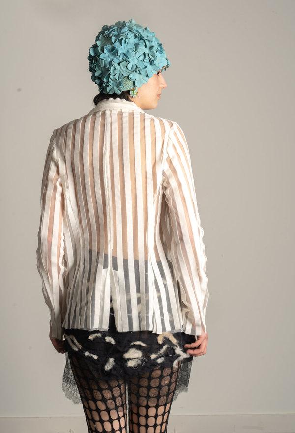 Striped Bow Blazer