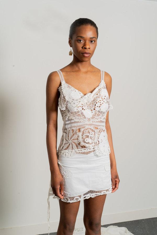 White Work Skirt