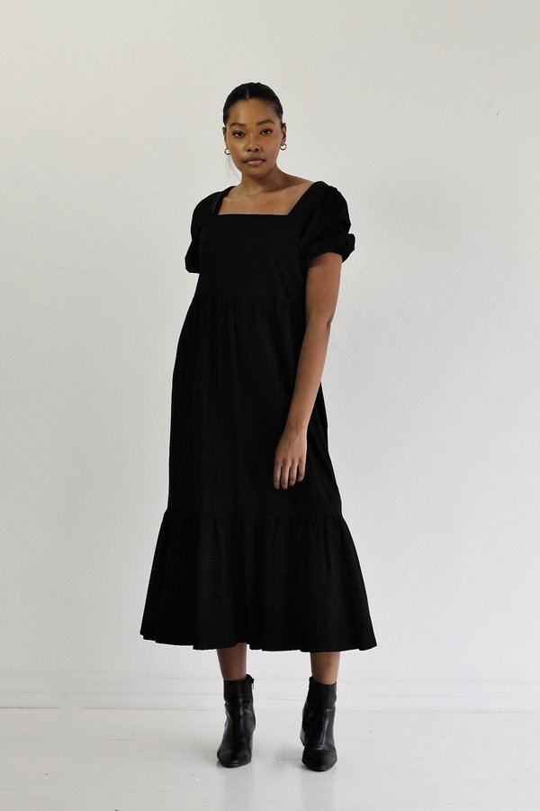 Descendant Tiered Dress - Black