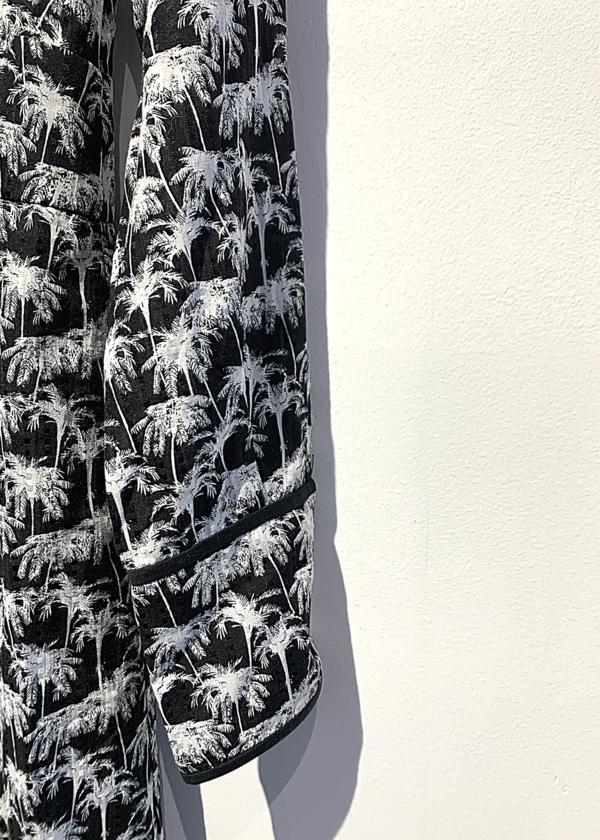 pre-loved Yigal Azrouel palms maxi dress - Black/white