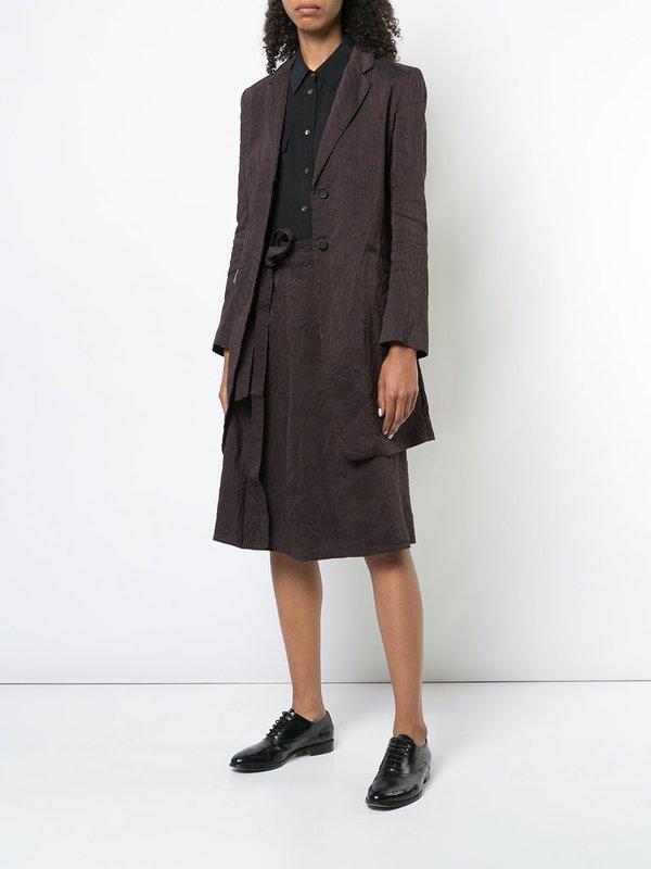 Forme d'Expression Belt Gathered Skirt - black