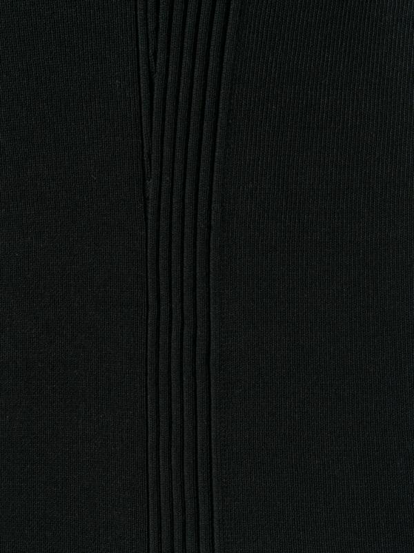 Mackintosh Cotton 0004 Zip-Neck Sweater - black