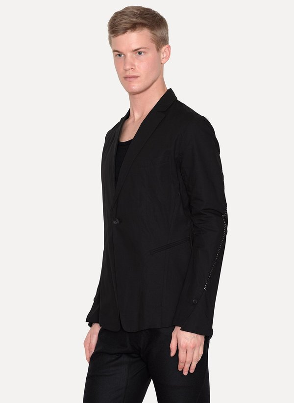 Chainstitch Cotton Linen Blazer