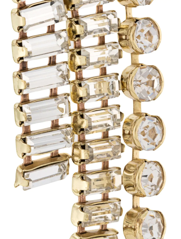 Chariot Drape Crystal Earrings