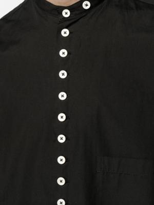Contrast Button Shirt