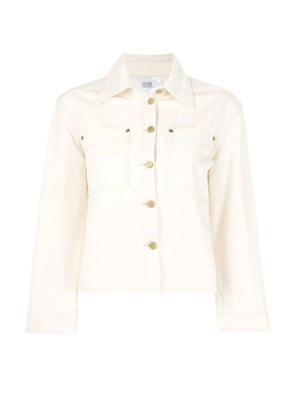 Cropped Sleeve Denim Jacket