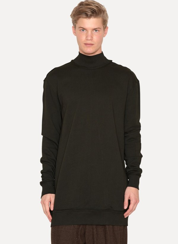 Dark Moss High Neck Sweater Wagner