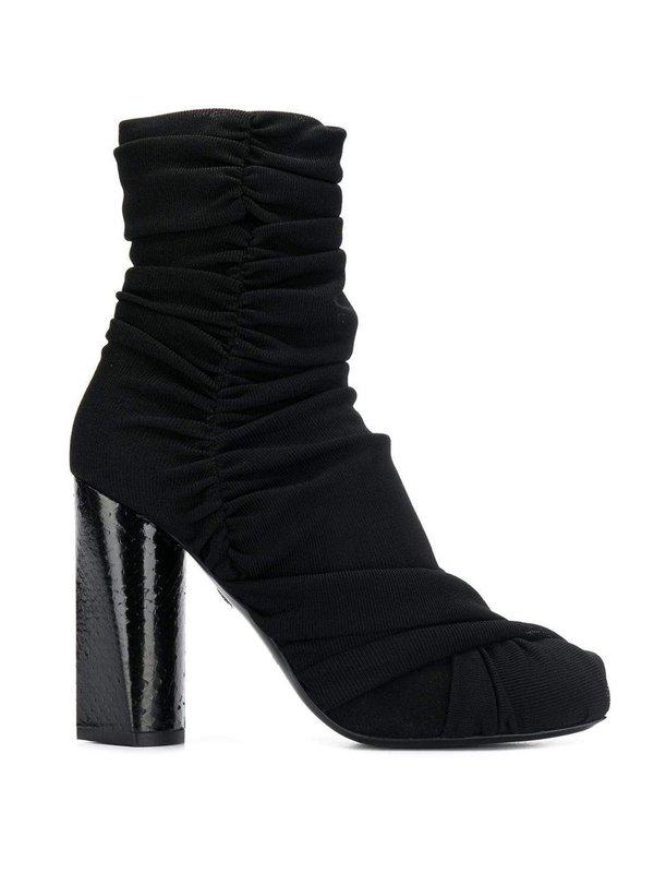 Roberto Cavalli Draped Design Boots - black