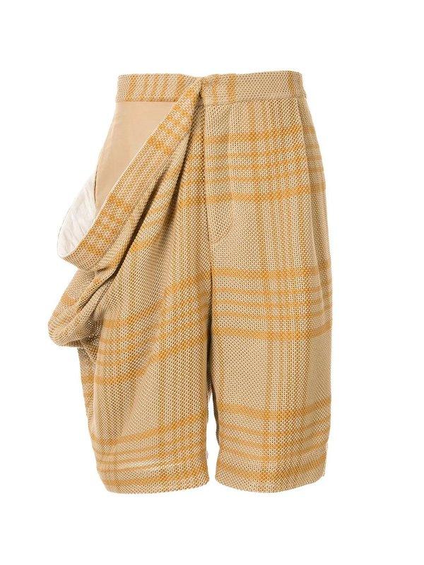 Draped Side Shorts