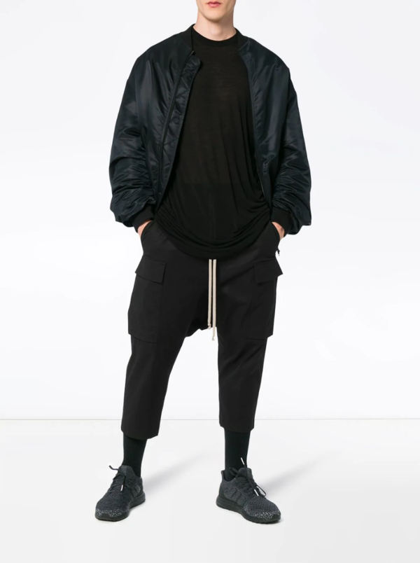 Drawstring Cropped Cargo Trousers
