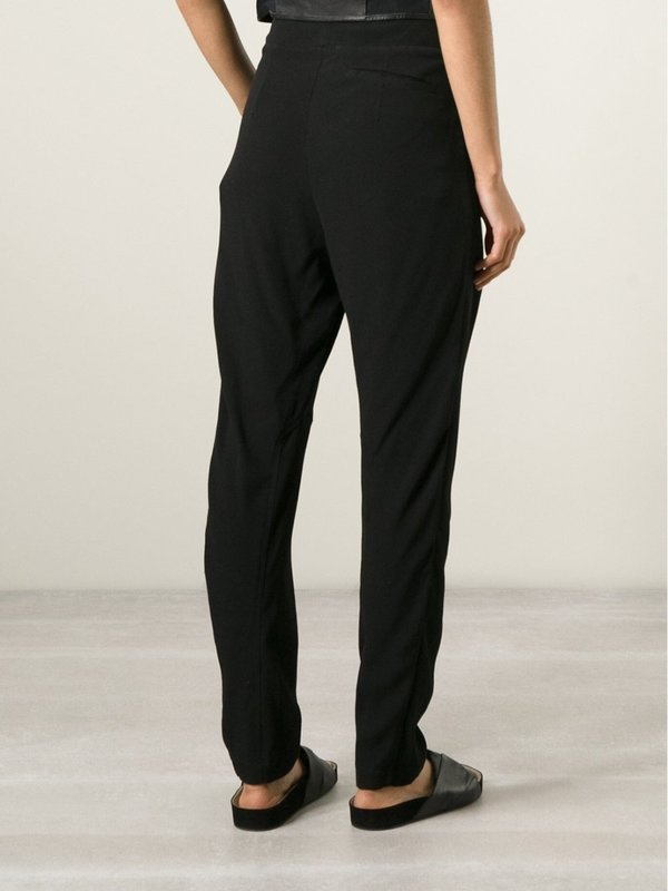 LOST&FOUND Drawstring Drop Crotch Trousers