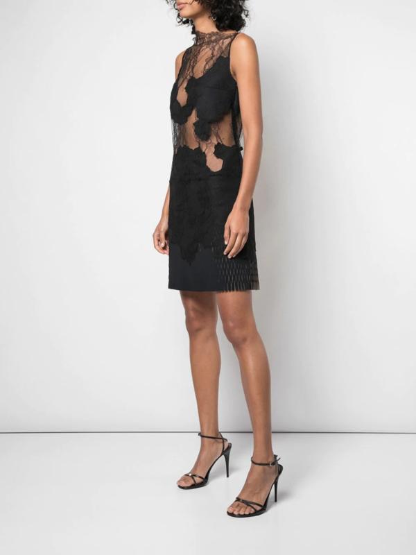 Erosion Lace Mini Dress