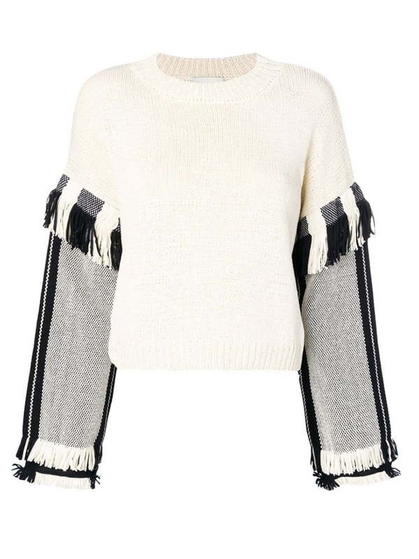 Fringe Cropped Pullover