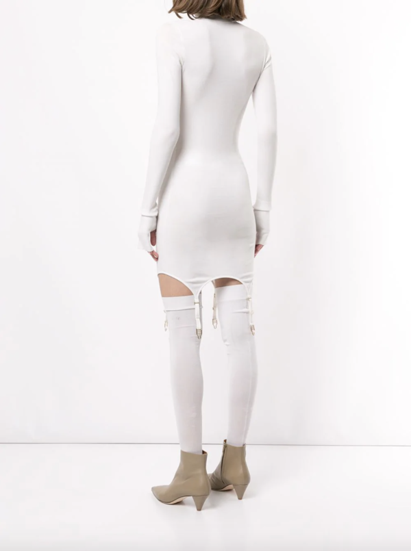 Dion Lee Garter Mini Dress - Ivory
