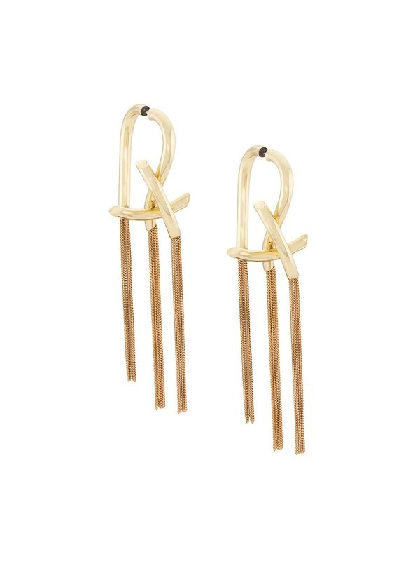 Intellectual Knotted Chain Earrings