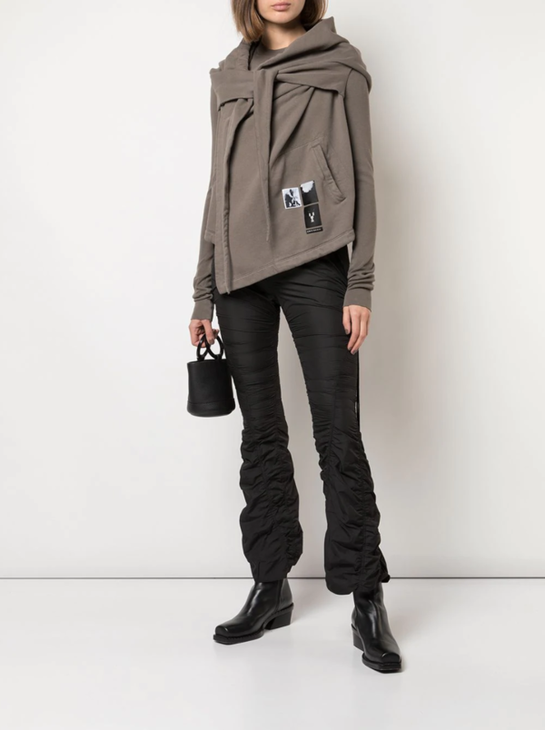 Rick Owens Larry Hooded Wrap sweater - Gray