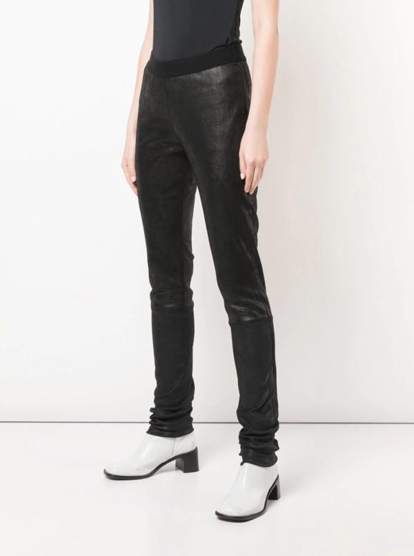 Ann Demeulemeester Leather Pellem Legging