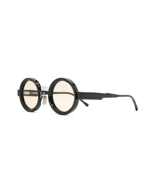 Maske N2 43-26 Black Shine Round Sunglasses