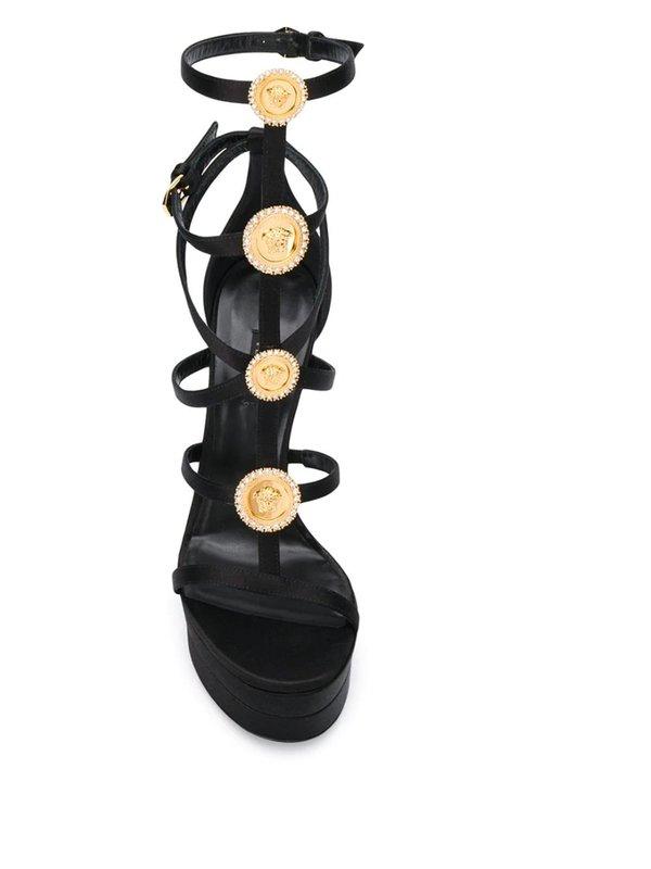 Medusa Studded Strappy Sandals