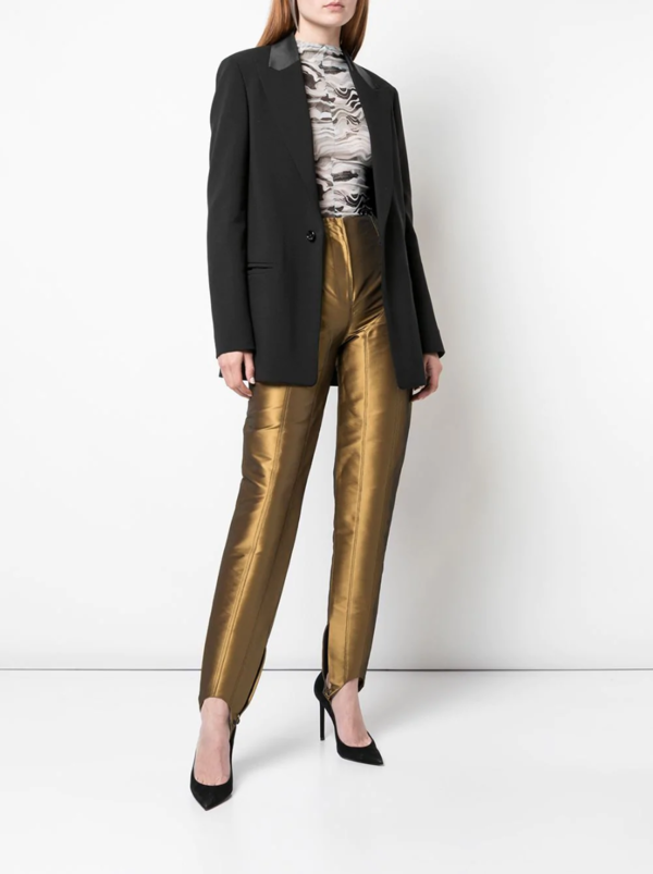 Metallic Stirrup Trousers