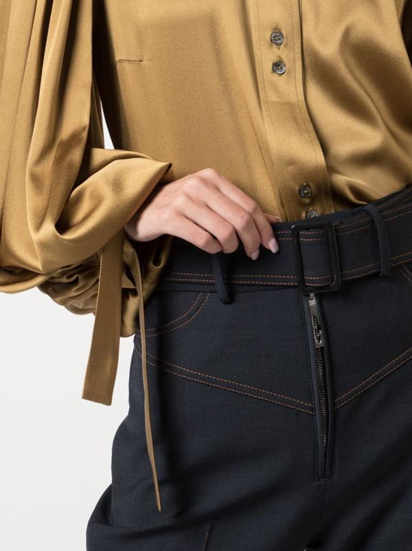 Monpi Ballon-Sleeve Shirt - Gold