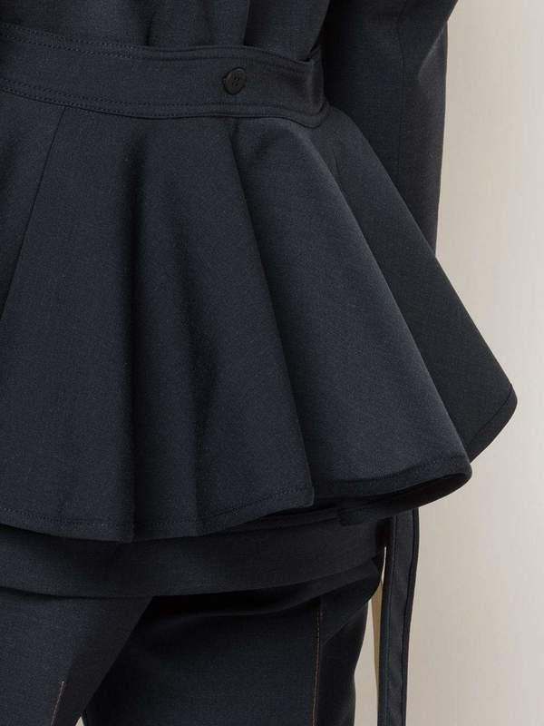 Ellery Permanent Residency Short Trench Coat - Navy Blue