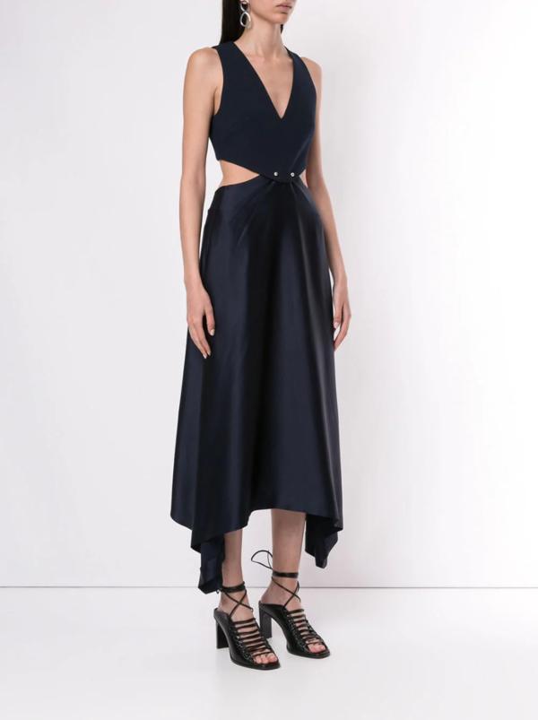 Pierced Midi Dress