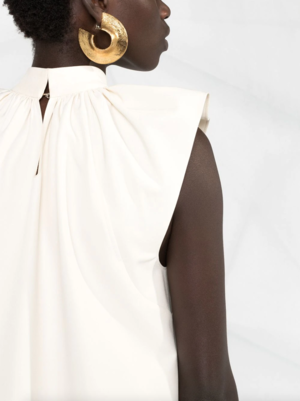 Ruched Detail Midi Dress