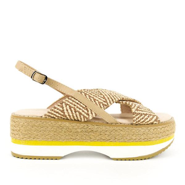 Azarey Platform Sandal - Nude