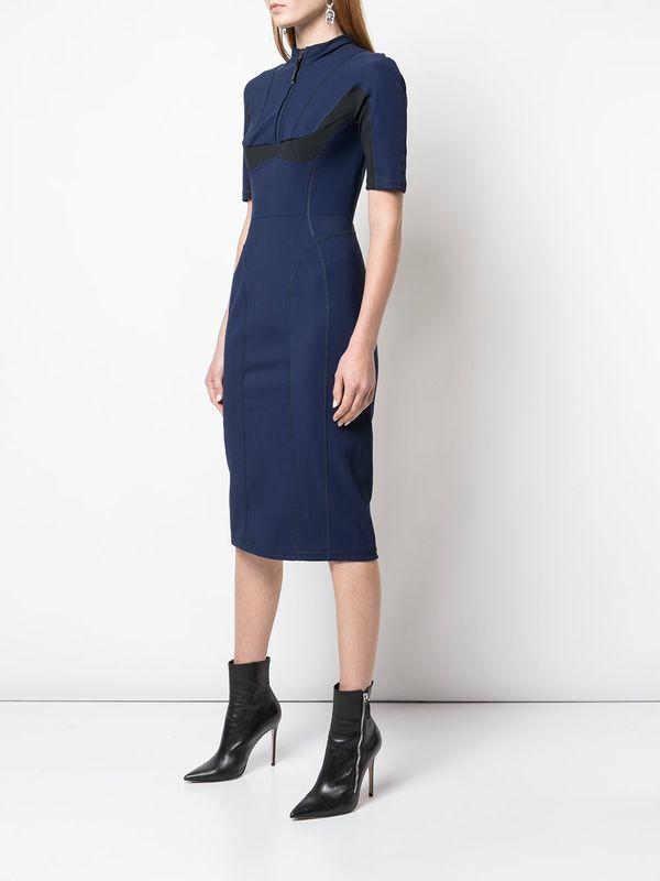 Scuba Robe Mid-Length Dress