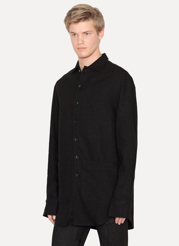 Song for the Mute Silk Linen Oversized Shirt Jacket