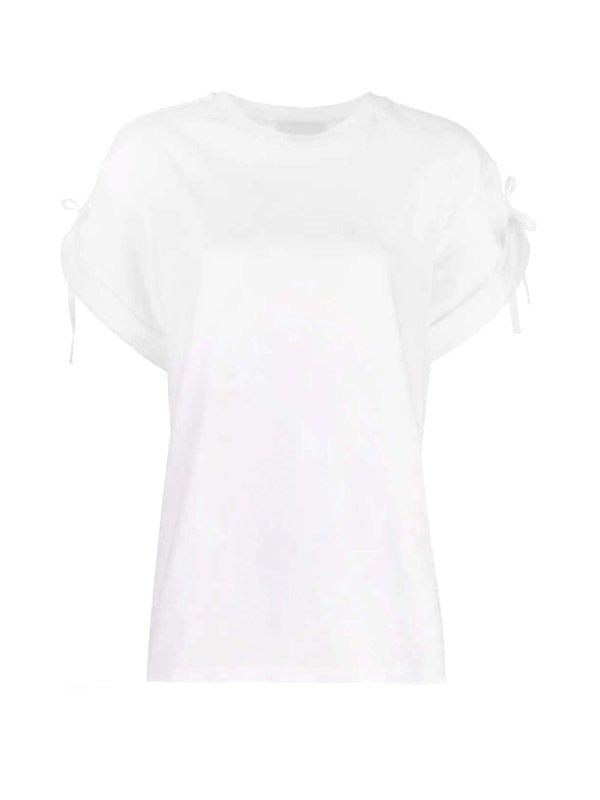 Sleeve Tie T-shirt White