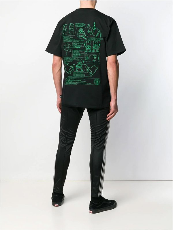 Stitch Print Crew Neck T-shirt