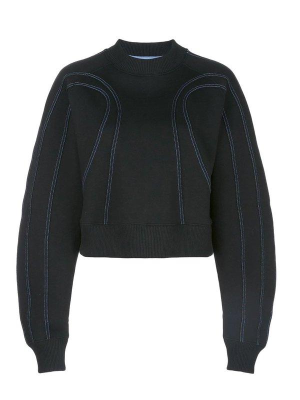 Mugler Stitched Sculpted Sweatshirt - Black
