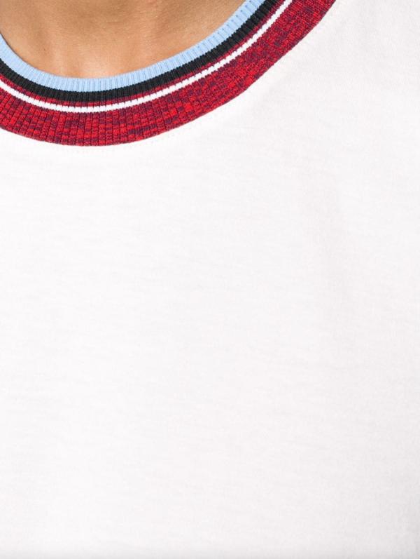 Marni Stripe Collar T-Shirt - Pink