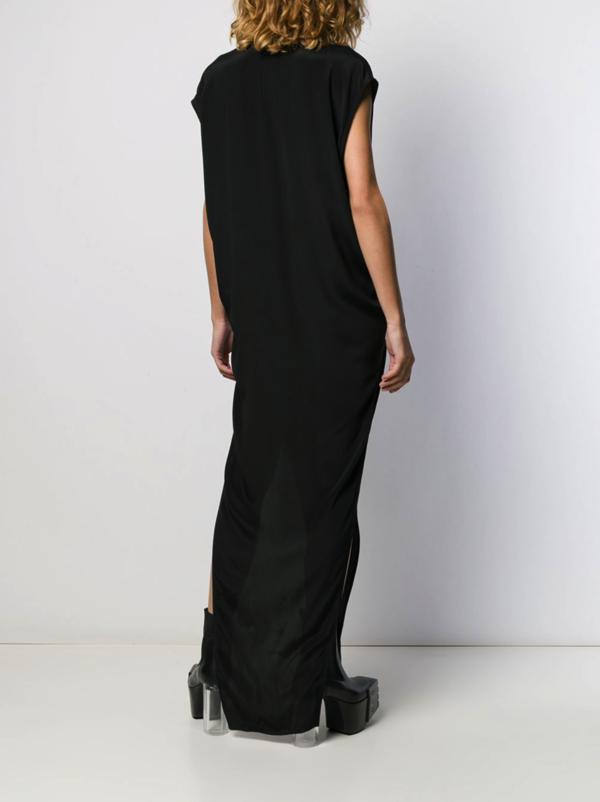 Rick Owens Tecuatl Cut-Out Long Dress - black