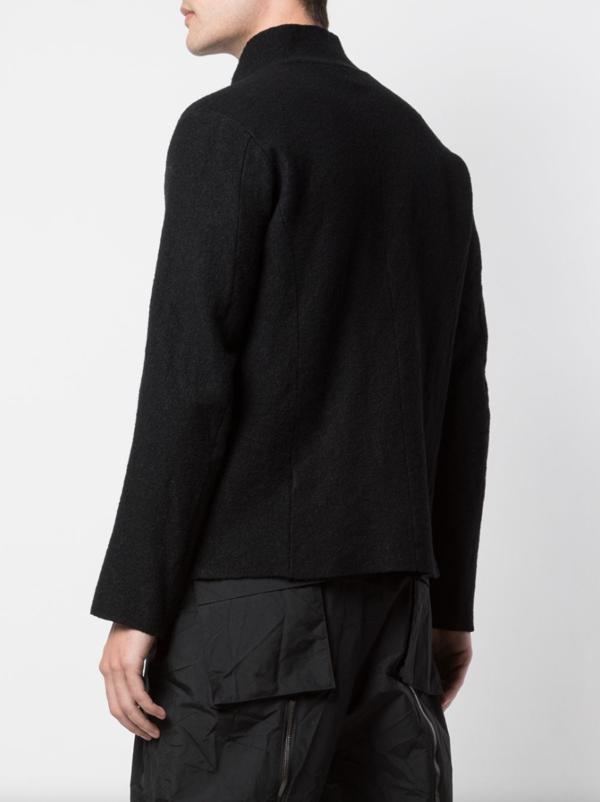 Textured Stand-Up Collar Jacket