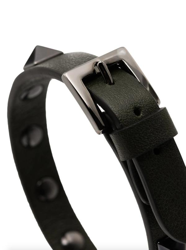 Valentino Tonal Rockstud Bracelet - black