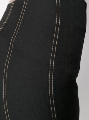 Mugler Topstitch Flared Trousers